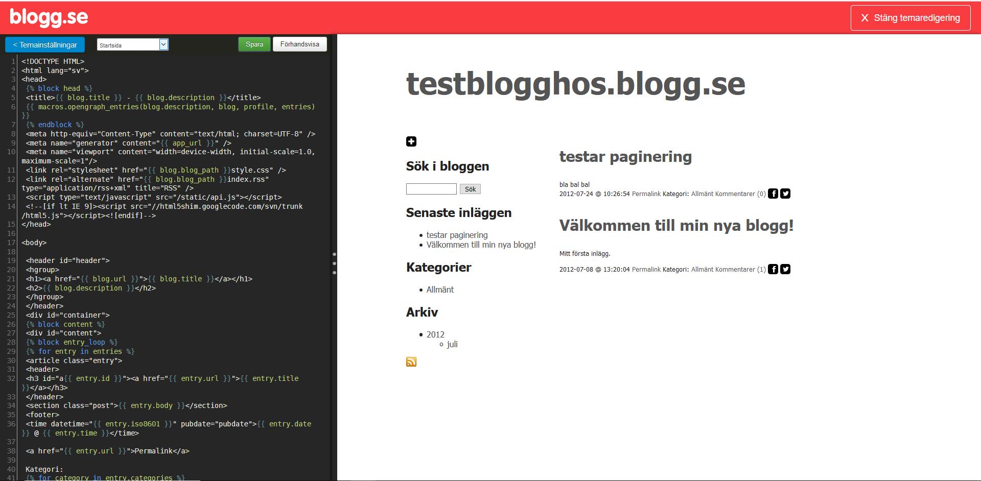 blogg.se koder. Nybörjarguide WordPress DNS SEO.