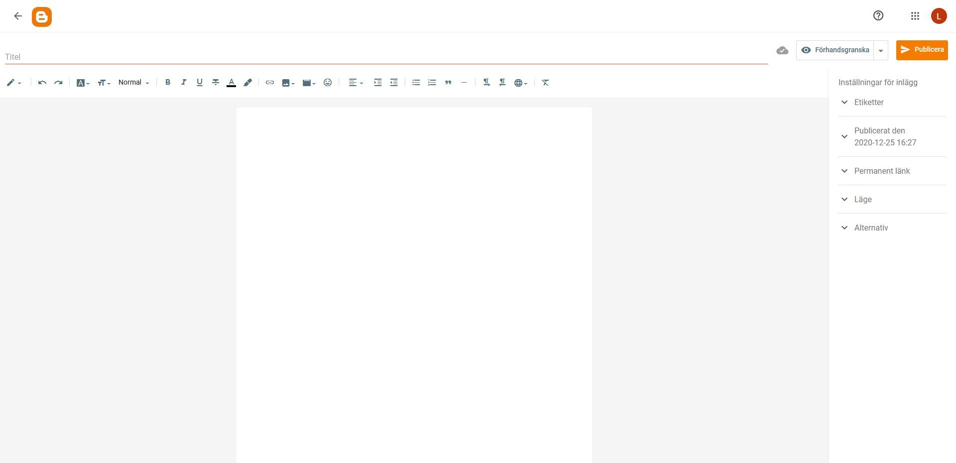 Blogger Post Page. Nybörjarguide WordPress DNS SEO.