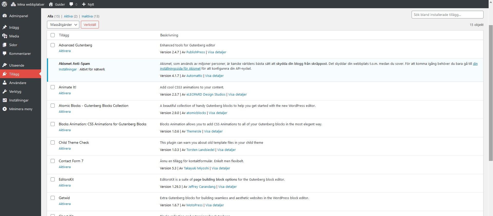 WordPress plugins. Nybörjarguide WordPress DNS SEO.