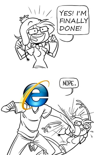 IE Knocks Out